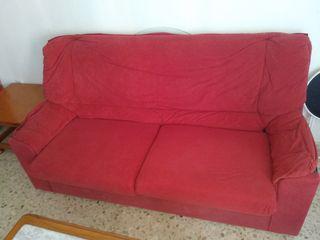 Sofá rojo 175*90*86, otro idéntico pero un poco má