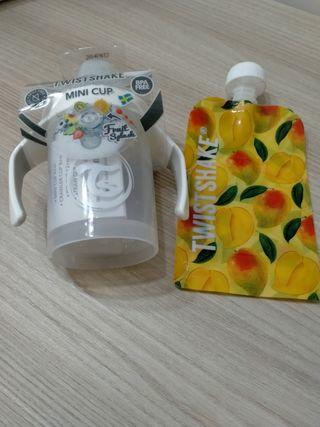 Biberón y bolsa para alimentos