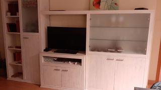 Mueble comedor con libreria y vitrina