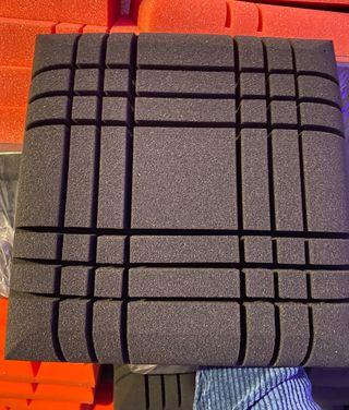 Panel Acústico 30x30x5 Cruzado doble