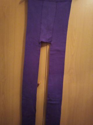 medias gruesas, de mujer, color lila