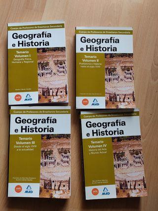 Manuales Oposiciones Geografía e Historia