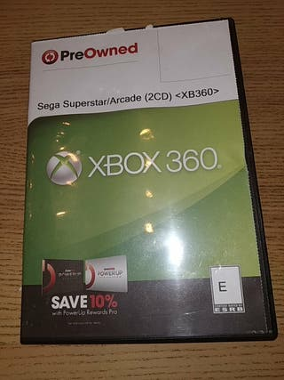 xbox 360 2 juegos sega superstar y arcade