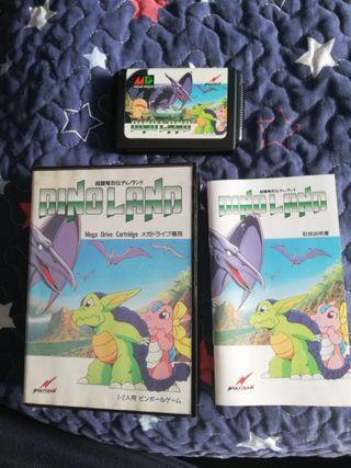 Mega Drive Dino Land Completo JAP