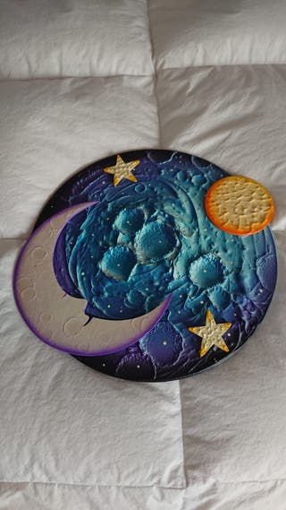 Adorno pared sol luna y estrellas
