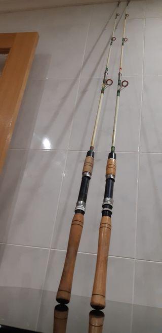 2 cañas de pesca 1.70 metros