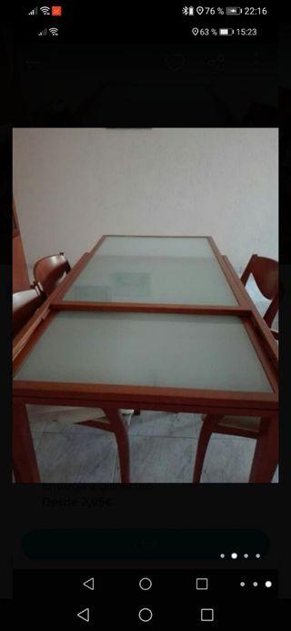 4 sillas + mesa extensible de comedor