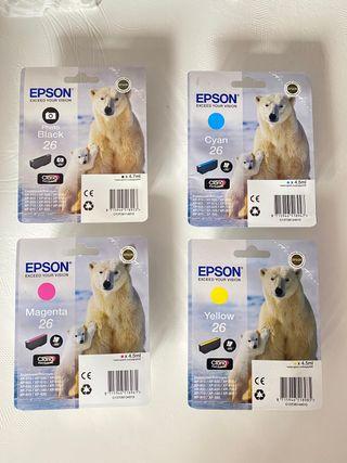 Cartuchos Epson 26 / Multipack 4 cartuchos tinta