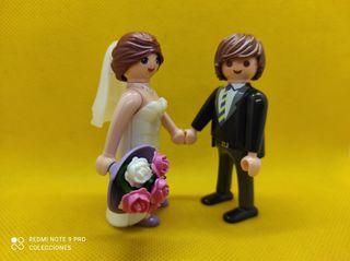 Playmobil Pareja de recien casados, novios con ram