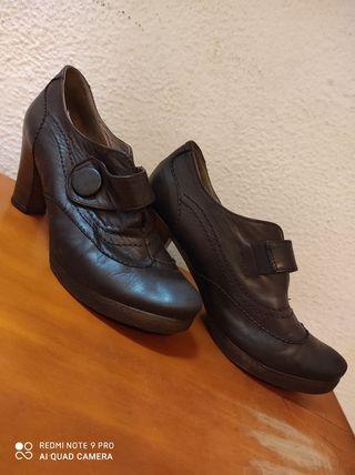 zapatos/tacón piel