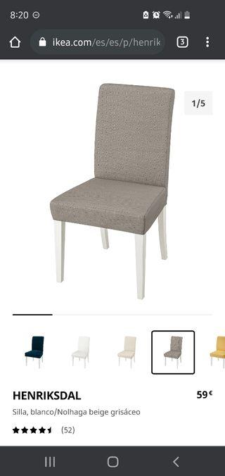 Vendo conjunto cuatro sillas de comedor Ikea