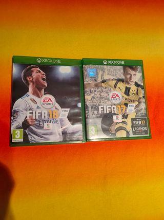 FIFA 17 Y FIFA 18. XBOX ONE. 5€ cada uno