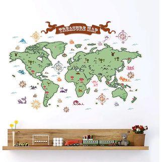 Vinilo pared decorativo mapa