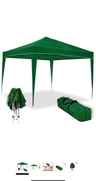 Venta de carpa plegable verde con sus paredes