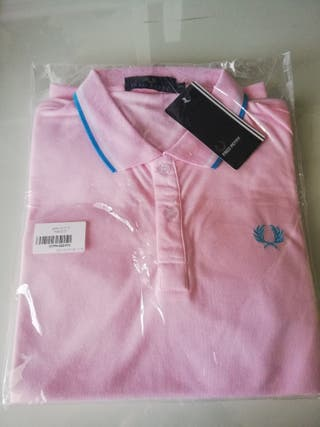 Polo Fred Perry rosa, talla S.