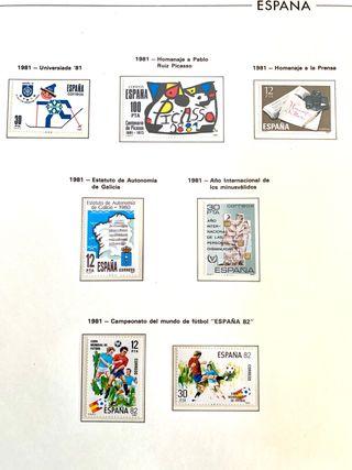 Álbum sellos españoles 1975-1984