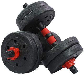 Kit Mancuernas Regulables 20KG.Fitness Musculación