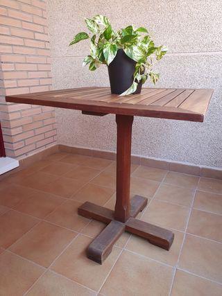 Mesa terraza/jardín de madera de teca