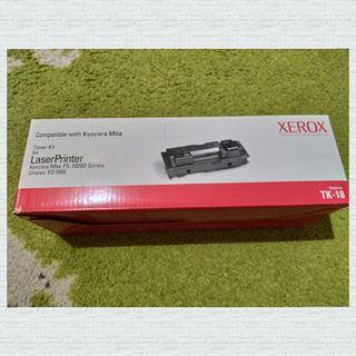 Cartucho tóner negro Xerox TK-18. NUEVO.