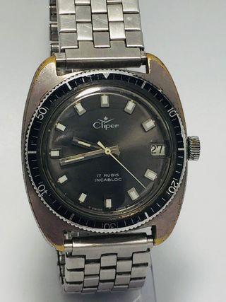 Reloj suizo original vintage diver