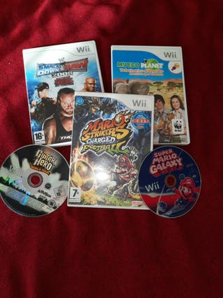 pack 5 juegos Wii