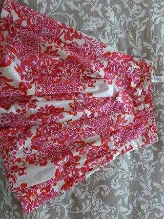 Falda de flores talla L Zara