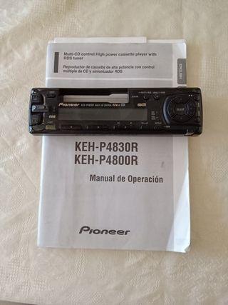 Frontal Pioneer de reproductor de cassette y CD