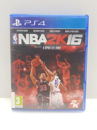 Videojuego PS4 NBA 2K 16