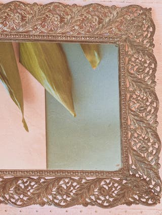 Antigua Azafata espejo Ornamentada