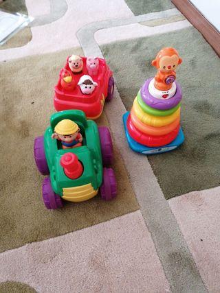Tractor animales y juego de anillas
