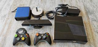 Xbox 360 Elite + 2 Mandos + Kinect + Lote de Juego