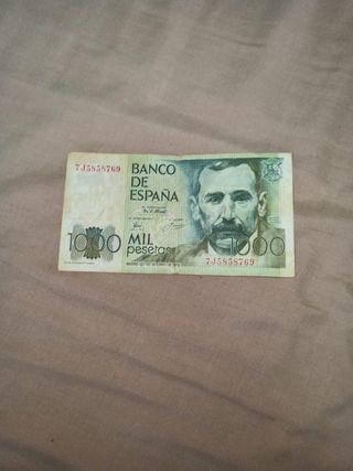 Billete 1000 pesetas de 1979