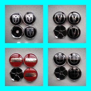 Tapabujes centro ruedas:Dodge,acura,Bbs, BMW