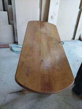 mesa para jardín de madera de pino