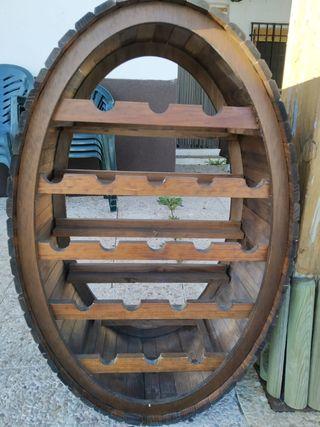 Botellero rústico madera