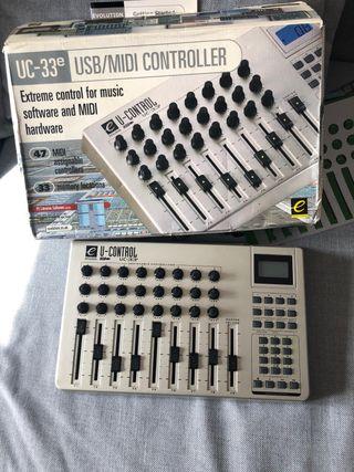 Evolution UC 33 E controladora MIDI
