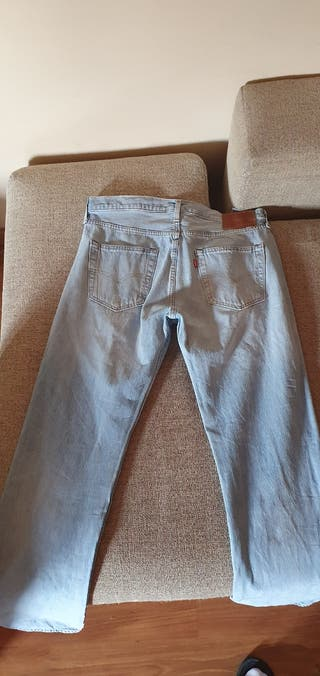 Levi's 501 pantalones hombre 33/34 azul claro