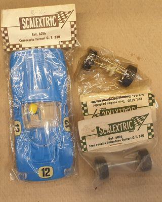 BLISTER EXIN FERRARI 330 GT SCALEXTRIC SLOT y EJES