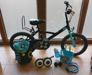 "Bicicleta 16"" para niños"