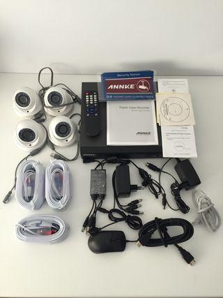 Sistema de vídeo-vigilancia (DVR + cámaras)