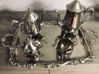 Juego de café bañado en plata