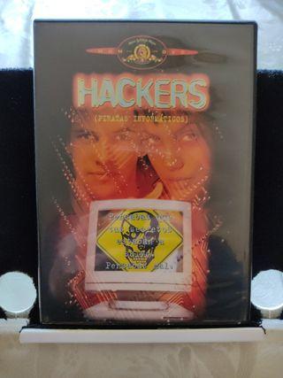 Hackers Piratas Informáticos. DVD. Película.