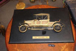 Par de placas de bronce artistica automobiles