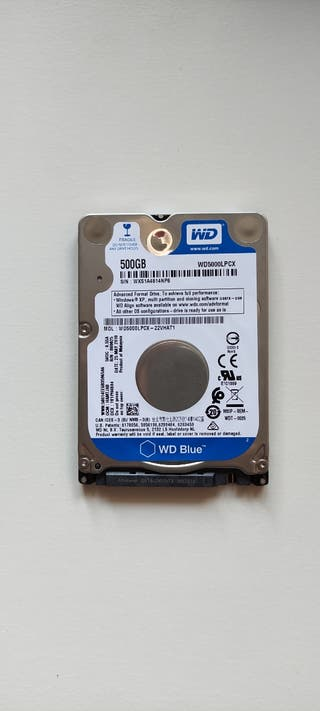 "Disco Duro 500GB WD Blue SATA 2.5"" para Portátil"