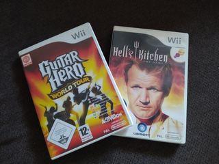 2 juegos de la consola Wii