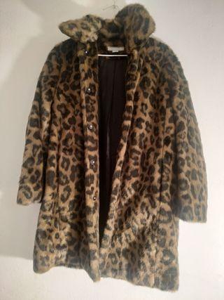 abric abrigo de leopardo piel sintetica terciopelo