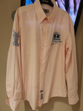 Camisa marca La Martina color rosa talla XXL