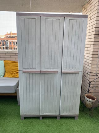 Armario Exterior, 3 puertas, 3 baldas