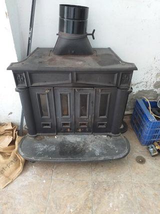 estufa de hierro colado