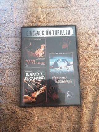 3 películas de miedo dvd